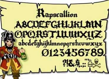 Rapscallion font