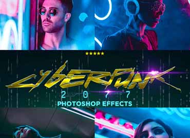 CyberPunk PRO Photoshop Actions
