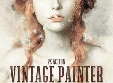 Vintage Painter Photoshop Action