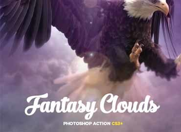 Fantasy Clouds CS3+ Photoshop Action