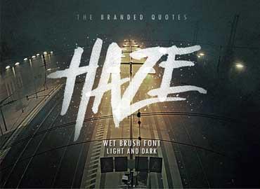 Haze Typeface Font Free
