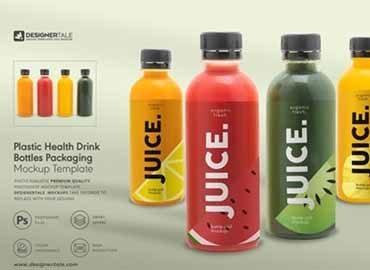 Health Drink Bottles Mockup