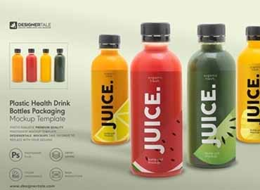 Health Drink Bottles Mockup
