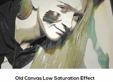 Old Canvas Low Saturation Effect