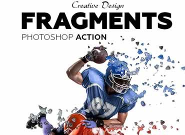 Fragments Photoshop Action