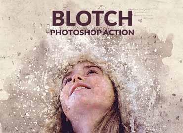 Blotch Photoshop Action