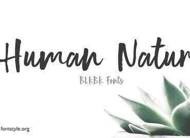 Human Nature Font