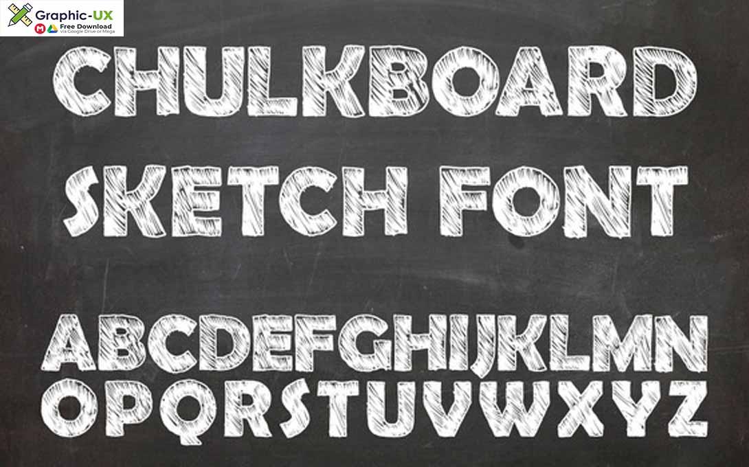Chulkboard sketch font