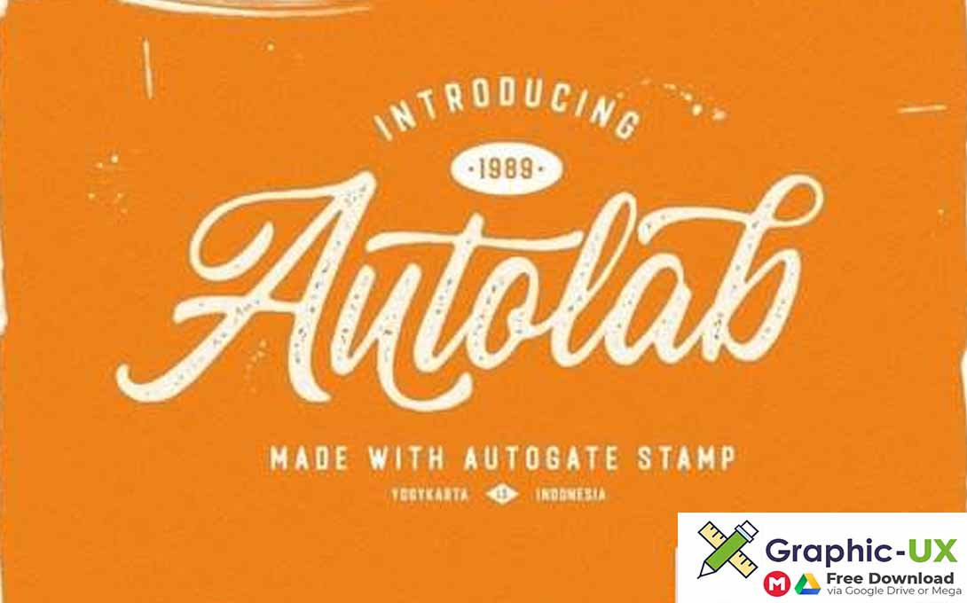 Autogate Stamp Font