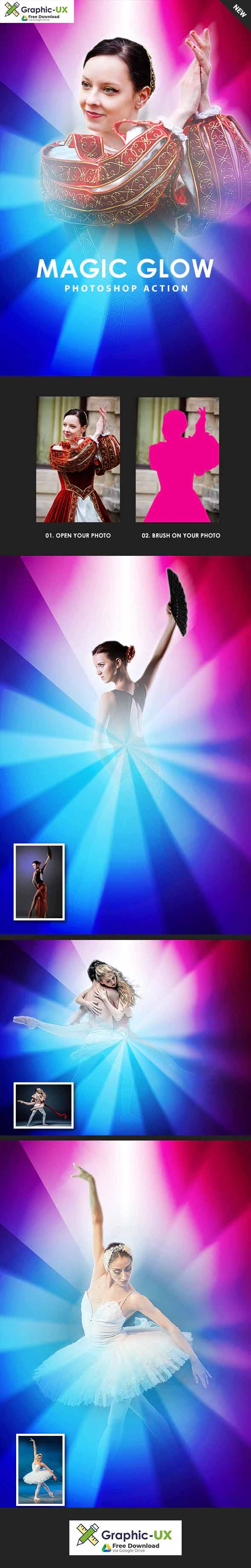 Magic Glow Photoshop Action