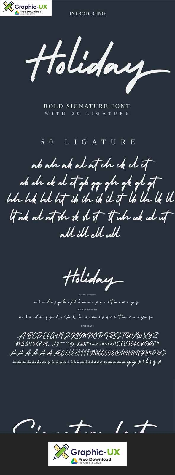 Holiday Bold Script Font