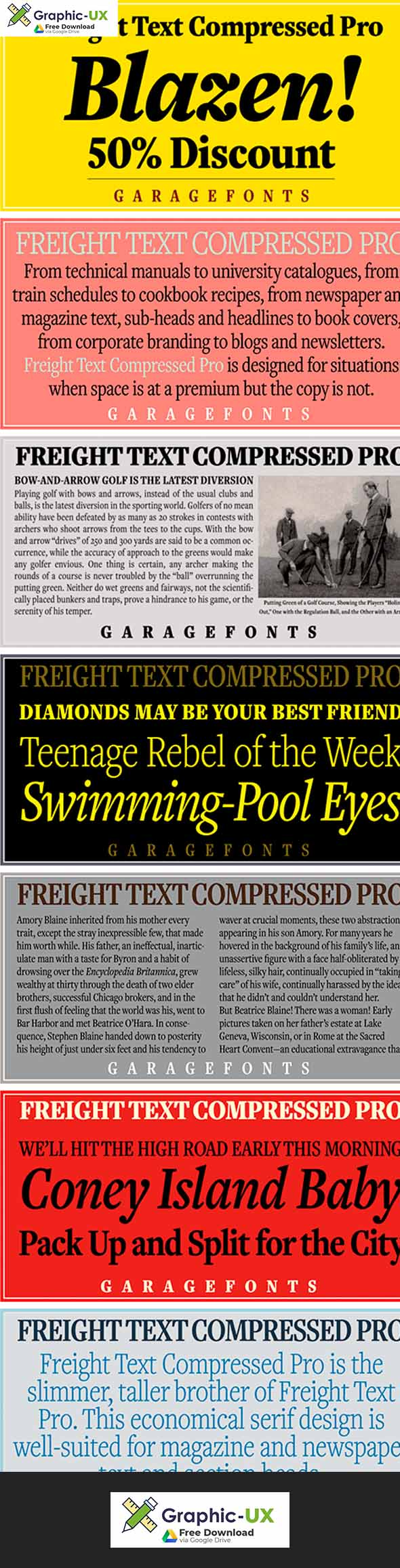 Freight Text Cmp Pro Font Family