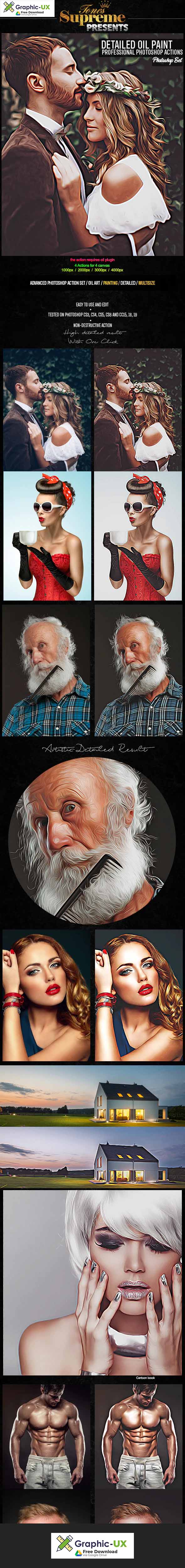 Detailed Oil Painting Photoshop Actions