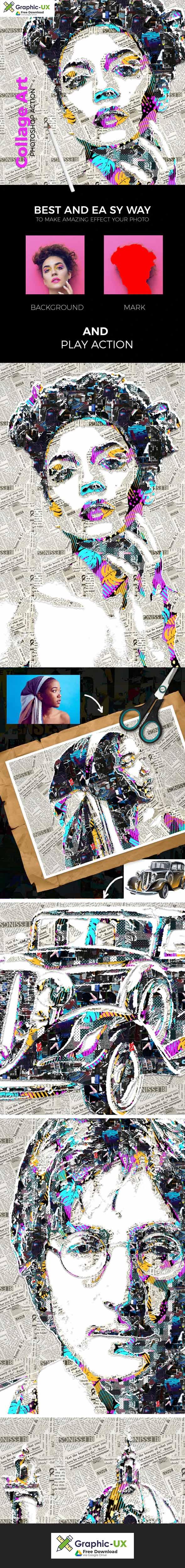 Collage Art Photoshop Action