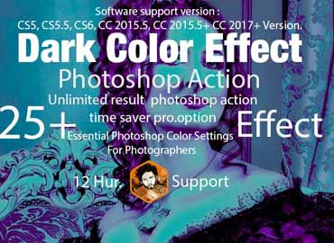 Dark Color Effect Action
