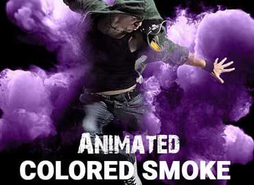 Animated Colored Smoke Photoshop Action