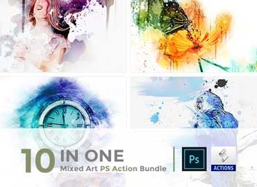 10 in One Mixed Art PS Action Bundle