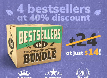 4-in-1 Bestsellers Photoshop Action Bundle