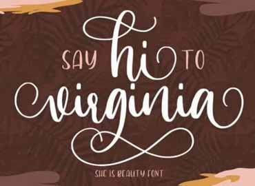 Hi Virginia Calligraphy Font