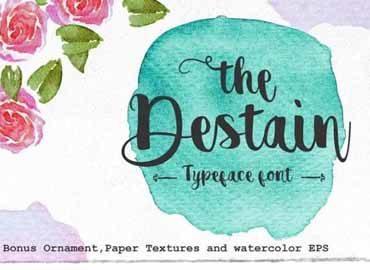 Destain Script Font Free