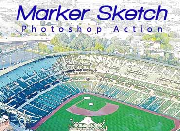 Marker Sketch Photoshop Action