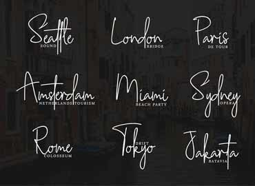 Southampton Signature Style Font