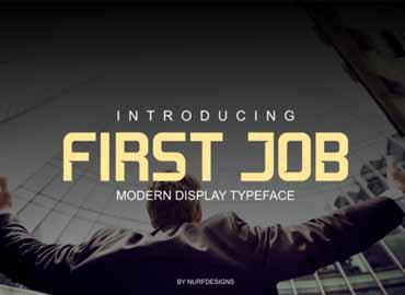 First Job Typeface Font
