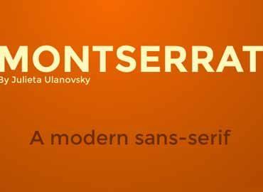 Montserrat Font Family