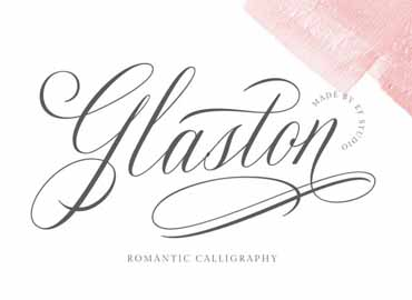 Glaston Calligraphy Font