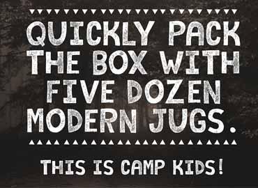 Camp Kids Font