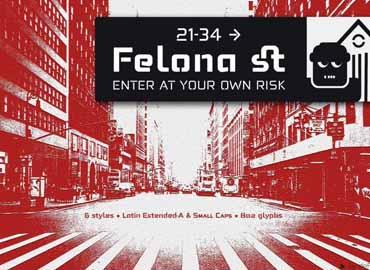 Felona st. Neo Stencil fonts