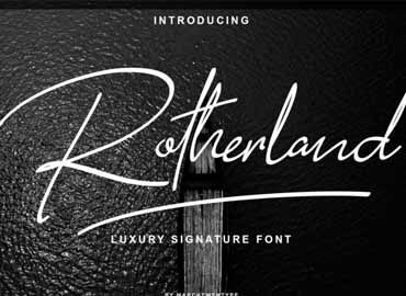 Rotherland Signature Font
