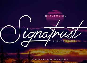 Signatrust Elegant Font