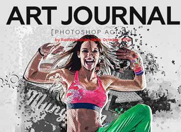 Art Journal Photoshop Action