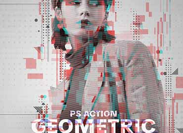 Geometric Glitch Photoshop Action