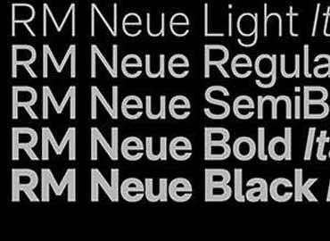 RM Neue Font Family