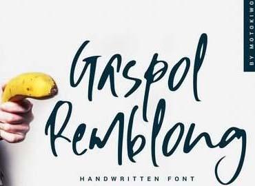 Gaspol Remblong Font