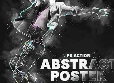 Abstract Poster Photoshop Action