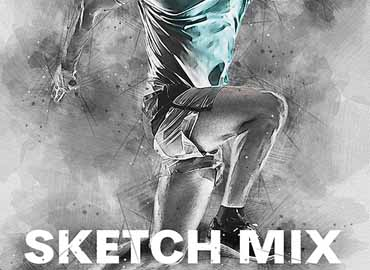 Sketch Mix Photoshop Action