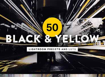50 Black and Yellow Lightroom Presets and LUTs