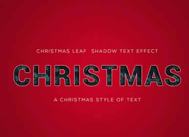 Christmas Text Effect
