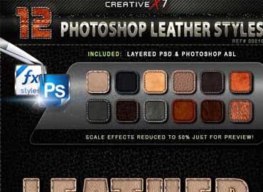 CreativeX7 - 12 Photoshop Leather Styles