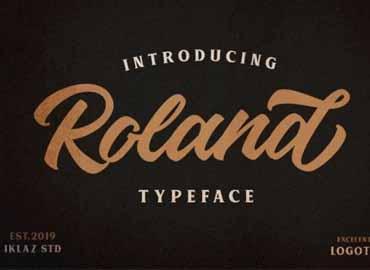 Roland Typeface Font