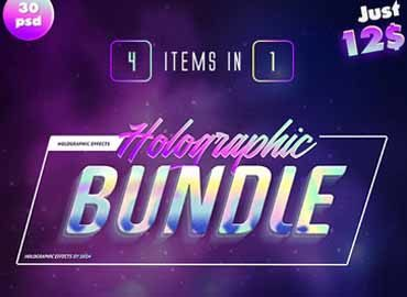 Holographic Text Effects Bundle