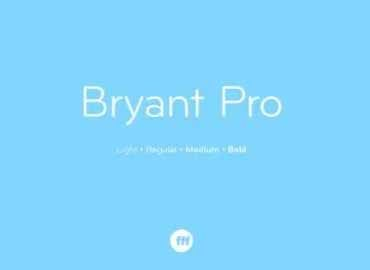 Bryant Pro Font Family