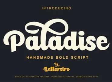 Paladise Script Font