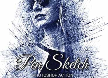 Pen Sketch Photoshop Action