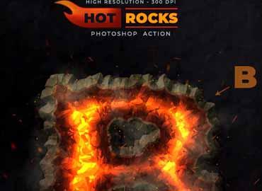 Hot Rocks - Photoshop Text Action