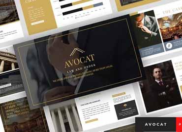 Avocat - Lawyer PowerPoint Template