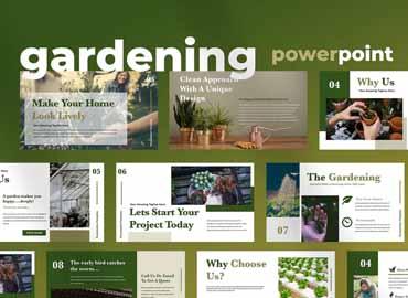 Ellen - Home Gardening Powerpoint Presentation